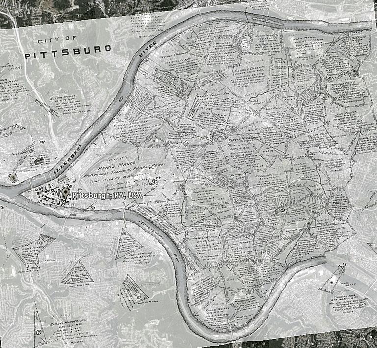 Pittsburgh Warrantee Maps Overlay