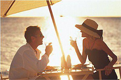 Couple enjoying sunset.