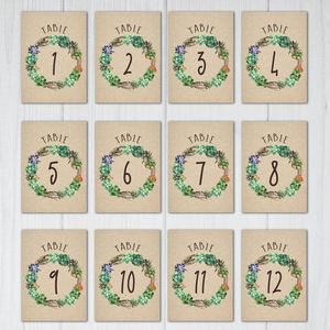 107 sets of free printable wedding table numbers for Table design numbers