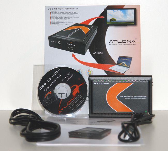 Atlona AT-HDPIX USB to HDMI Converter - Box Contents
