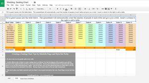 how to create nice tables google docs
