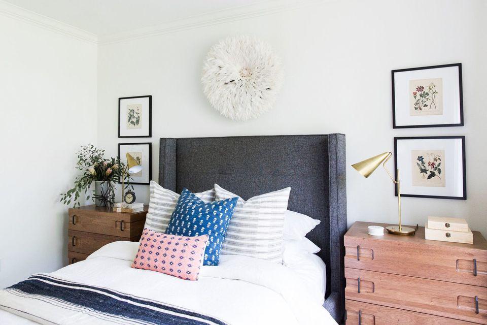 gray headboard austin home