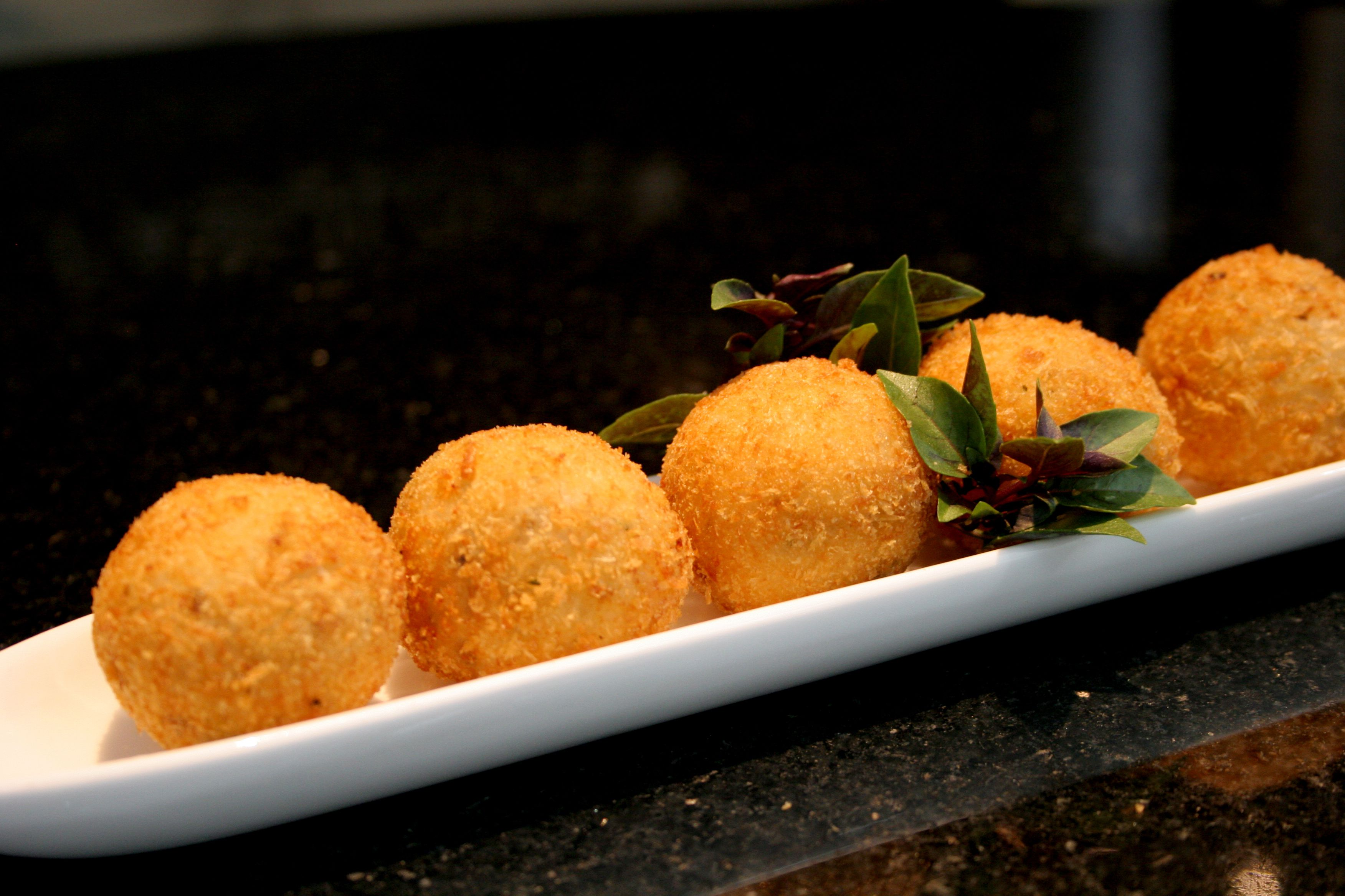 Baked Cheddar Cheese Balls With Olives Recipe