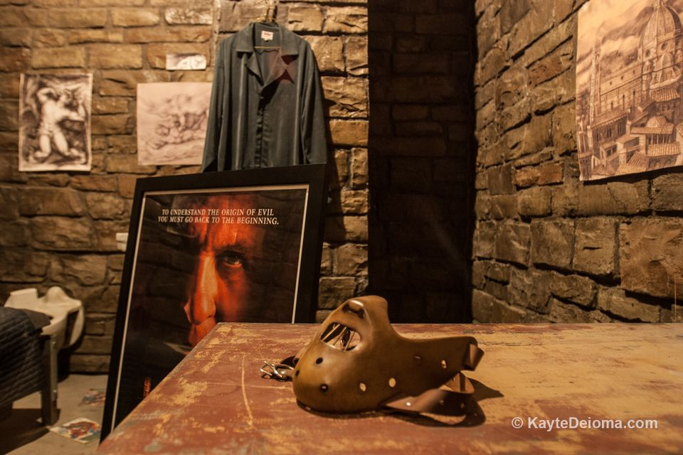 Hannibal Lecter's cell from The Silence of the Lambs at the Hollywood Museum