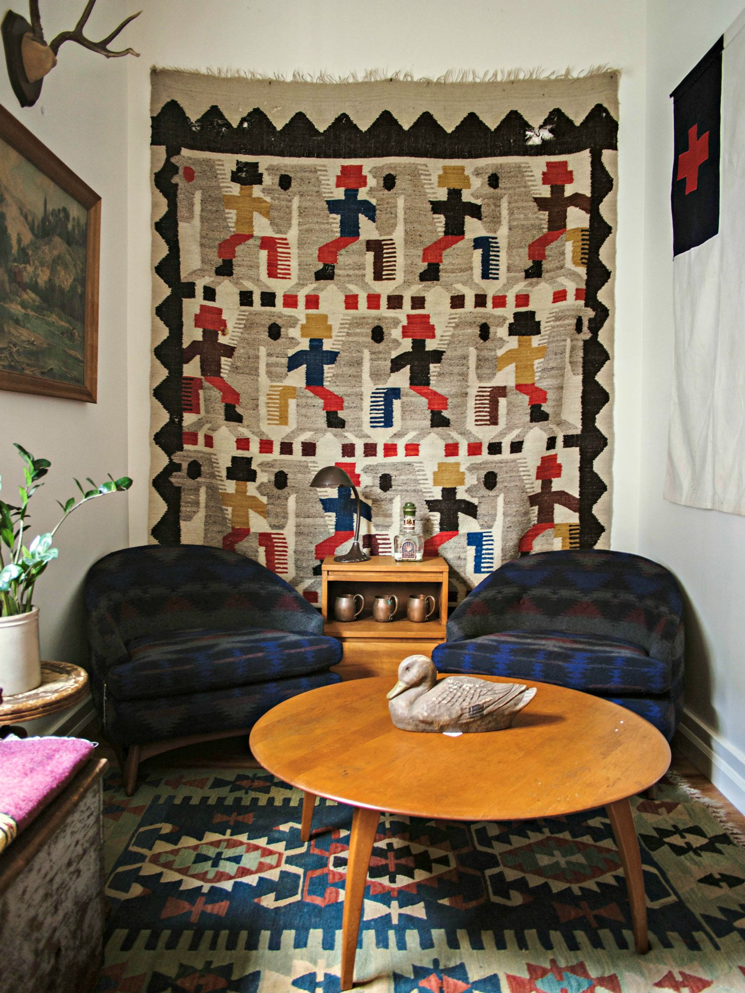 turn rugs into artwork: how to hang rugs on the wall