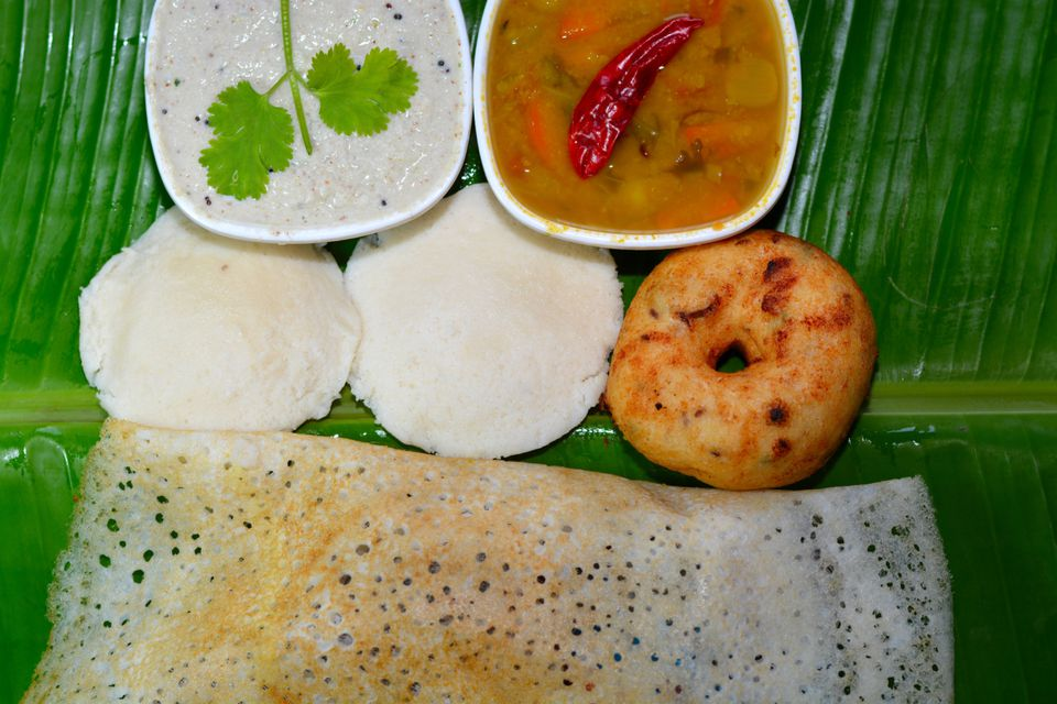 South Indian breakfast.