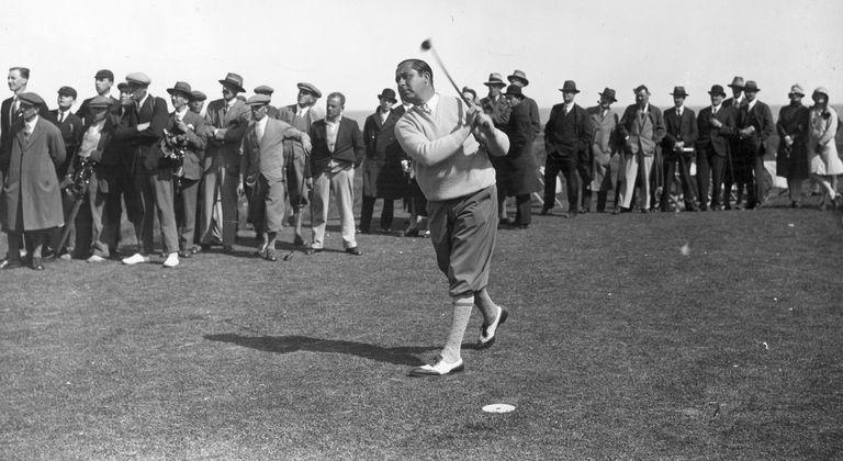American golfer Walter Hagen, 1928
