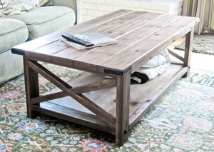 19 free coffee table plans you can diy today rustic x coffee table from ana white keyboard keysfo Images