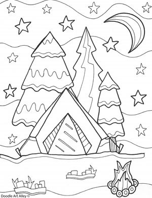 243 summer coloring pages for kids for Cute summer coloring pages