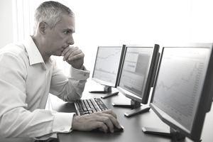 trader assessing vanna options data