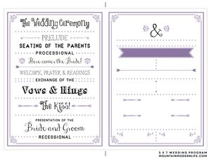 27 Free Wedding Program Templates You\'ll Love