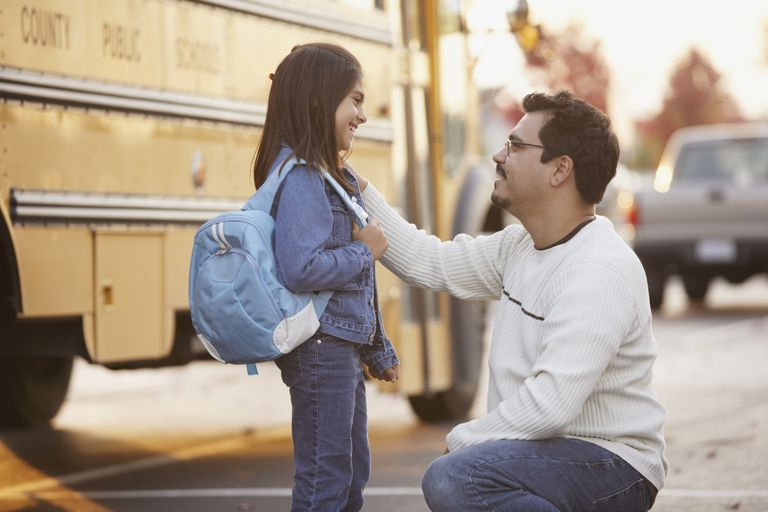 Dad at School Bus