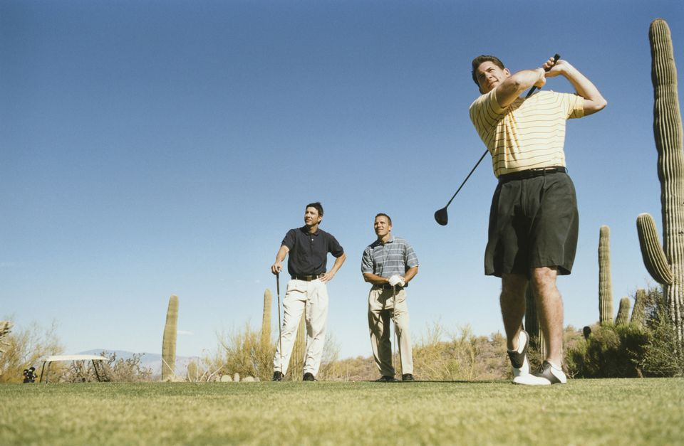 men golfing at Phoenix golf course
