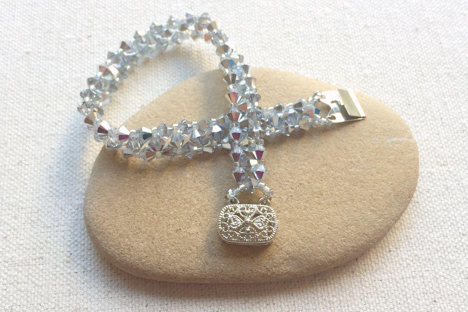 crystal bead tennis bracelet tutorial