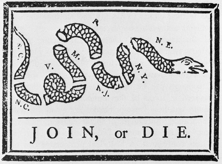 The Join or Die cartoon