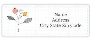 A address label template with pink and orange flowers