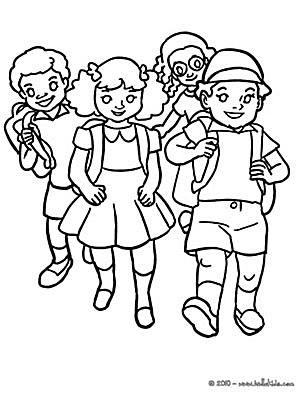 Hello Kids Back To School Coloring Pages