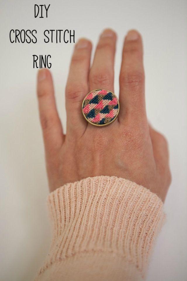 DIY-Cross-Stitch-Ring