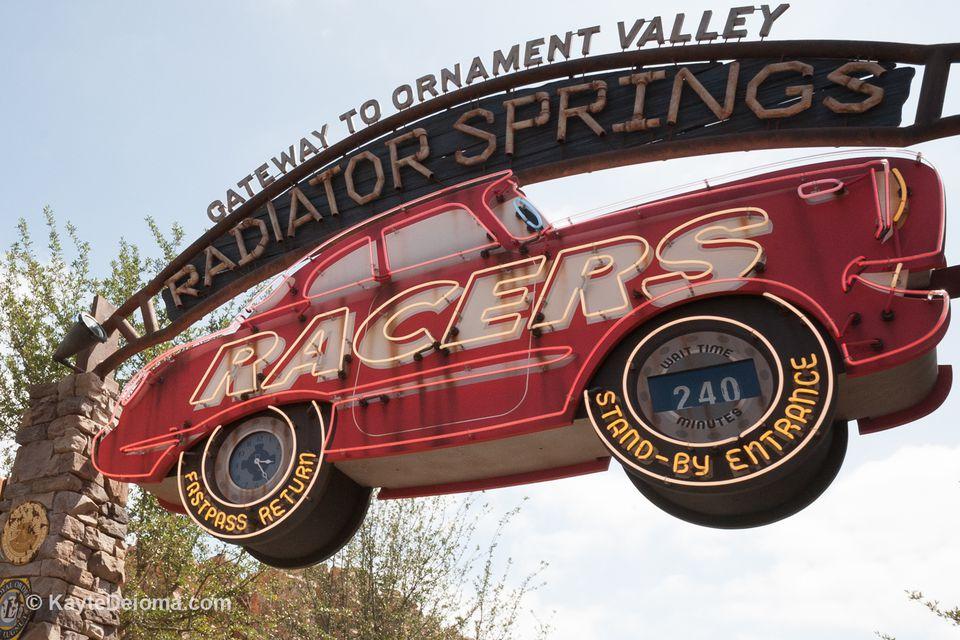 Entrance to Radiator Springs Racers at Disney California Adventure