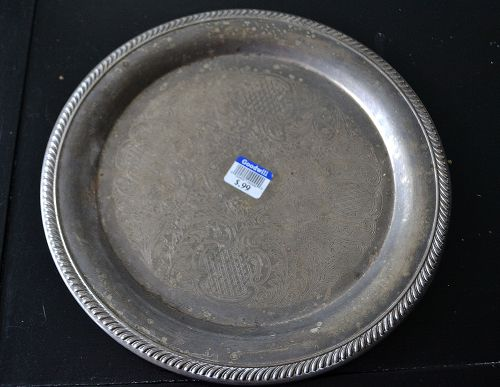 tarnished silver tray