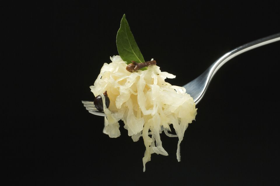 Sauerkraut on fork