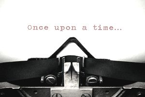 Typewritter with the phrase Once Upon A Time