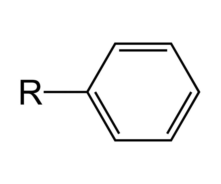 The phenyl functional group is an aryl functional group derived from benzene.