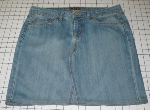 Convert Jeans in to a Denim Skirt