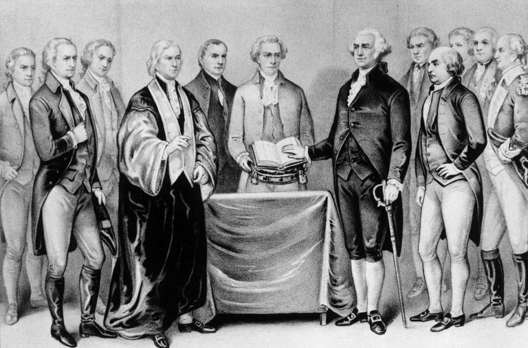 The inauguration of George Washington.