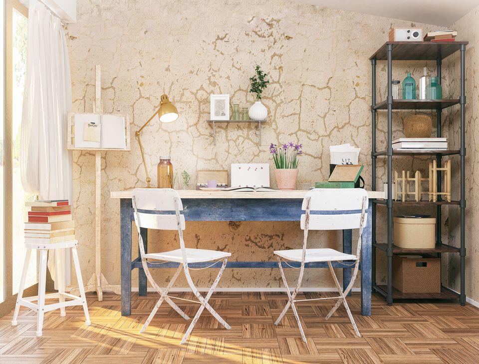 Artsy home office