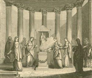 Vestal Virgins Serving in the Temple