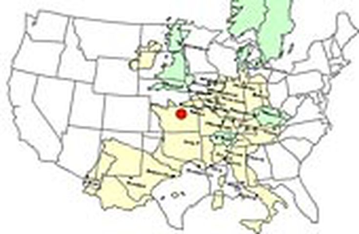 Driving The United States Versus Europe - Us map imposed over mid east for size comparison