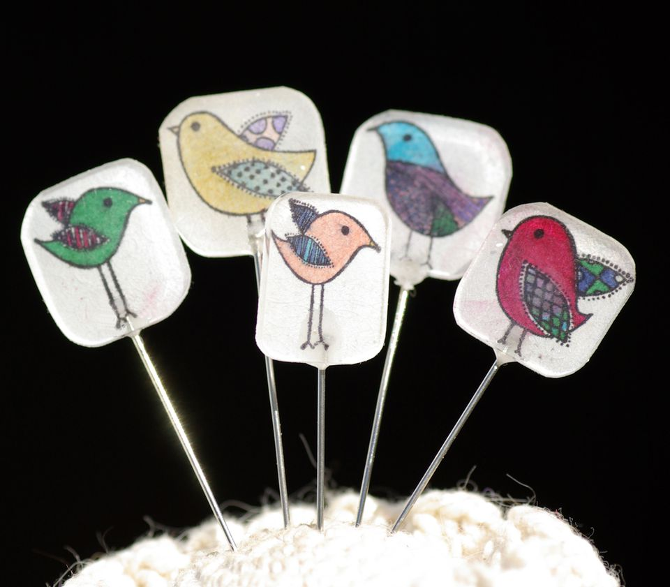 Shrink Plastic Sewing Needle Heads