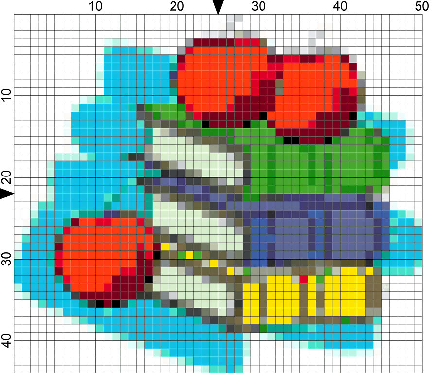 school books needlepoint chart