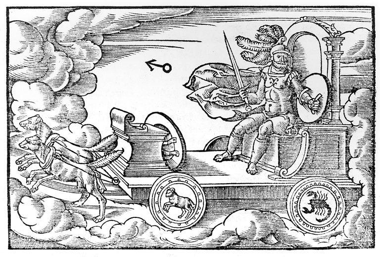 Mars, Roman god of war, 1569, by an anonymous artist.
