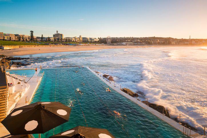 Bondi Beach is the famous beach in Sydney, Australia.
