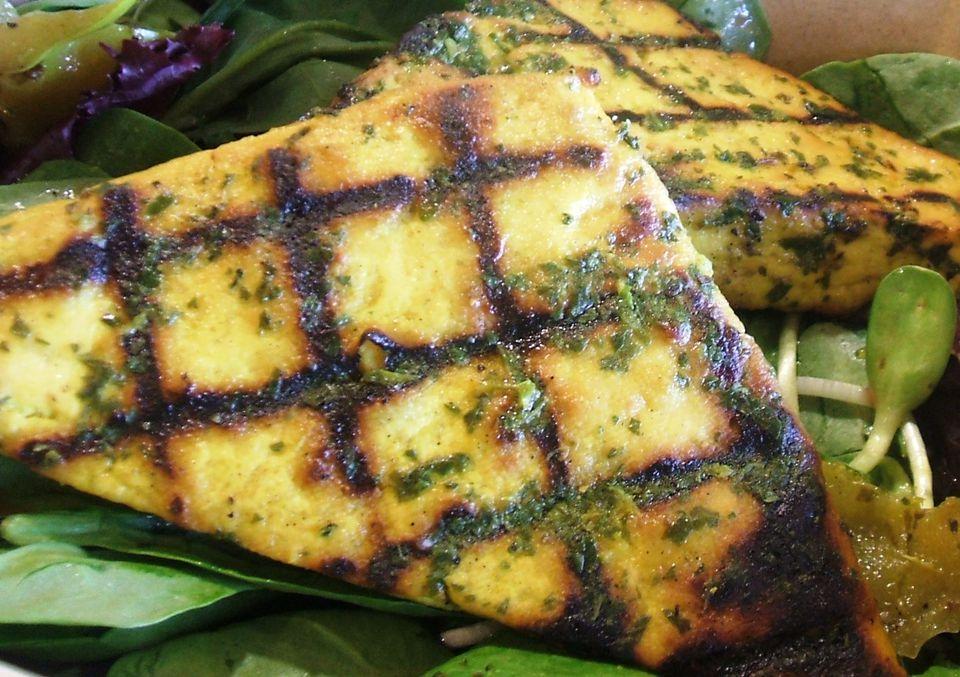 Grilled tofu