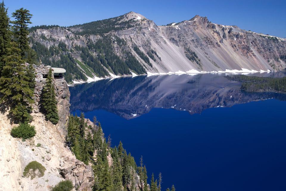 Sinnott Memorial Overlook at Crater Lake Naional Park