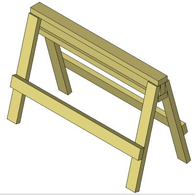 Free Woodworking Plans - Attach the Leg Stringers