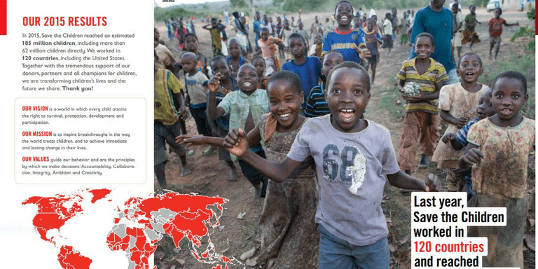 Annual report from Save the Children