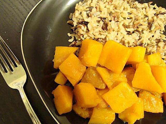 Butternut squash with brown rice