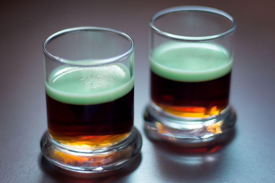 Guinness & Green Jell-O Shots