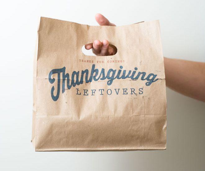 DIY Thanksgiving Leftovers Take Home Bag