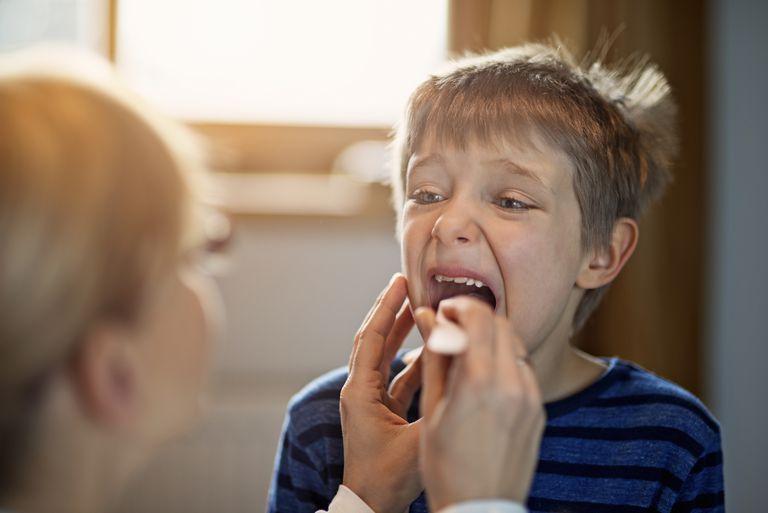 Little boy having medical examination