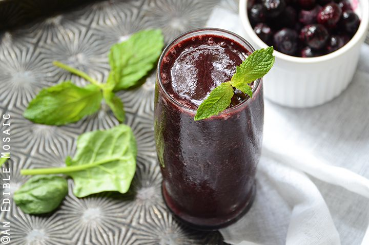 Minted Blueberry Balsamic Smoothie