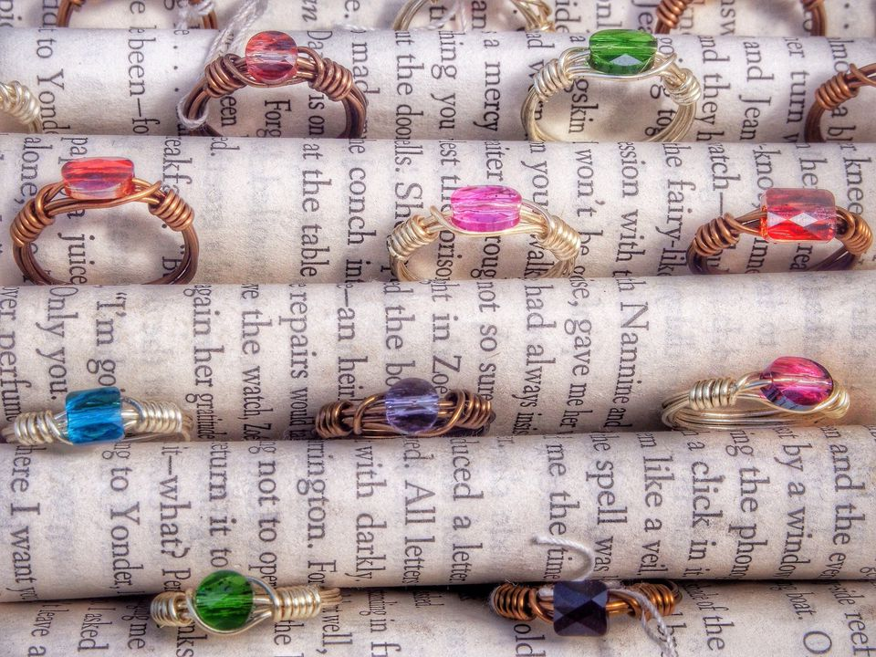 multi-color gemstone rings