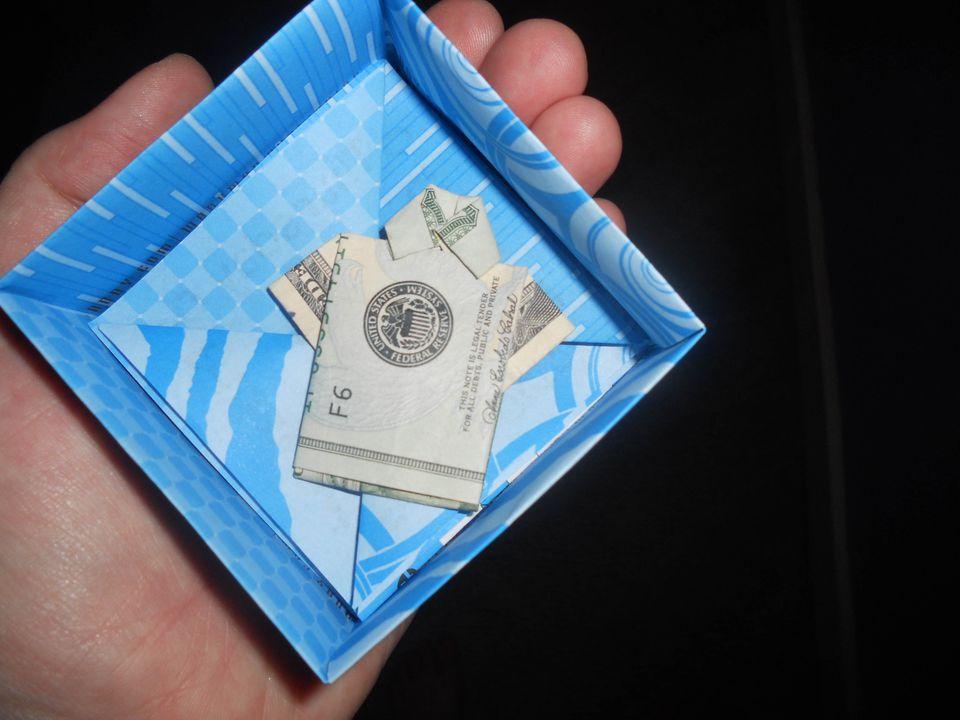 origami money shirt