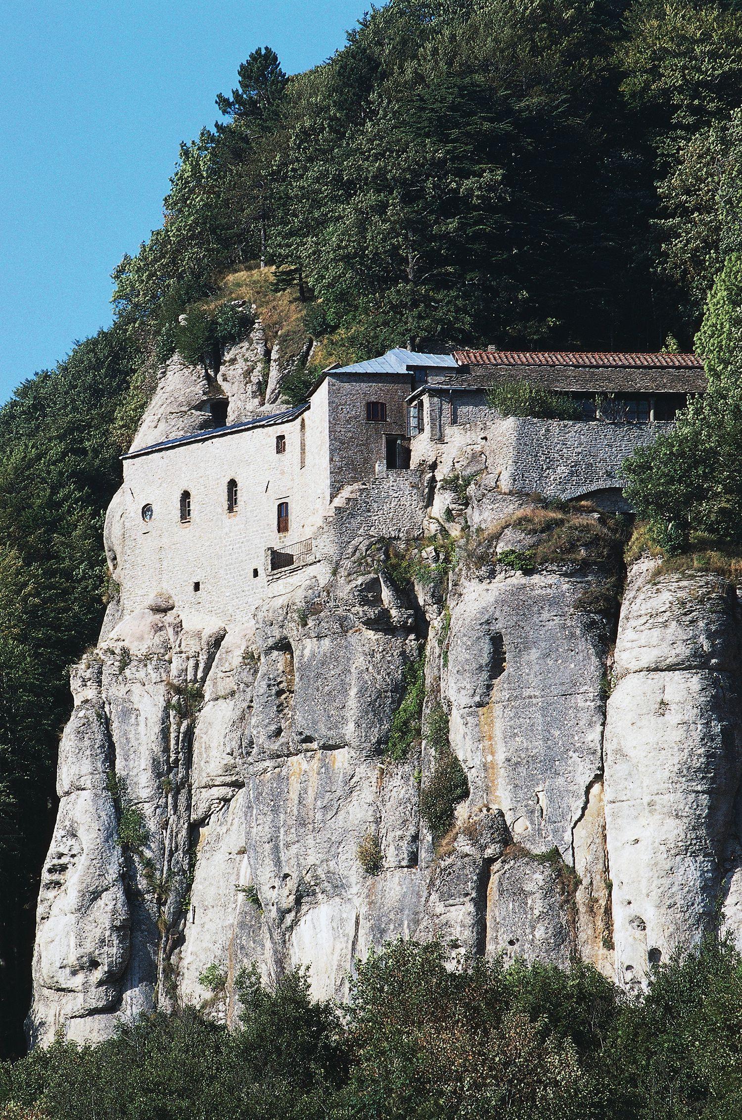 La Verna Sanctuary And Pilgrimage Site In Tuscany
