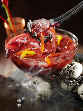 try a super spooky halloween sangria for the party 10 mins ratings alcoholic punch recipes - Halloween Punch Alcohol