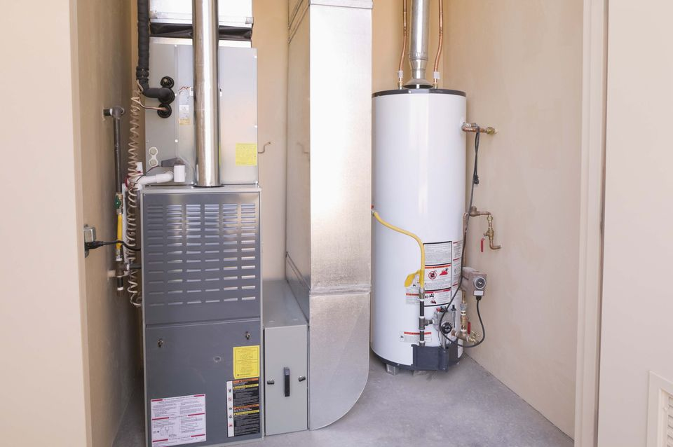 Gas Furnace and Water Heater